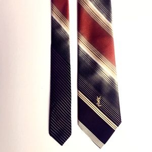 YSL (Yves Saint Laurent) Monogrammed Men's Tie